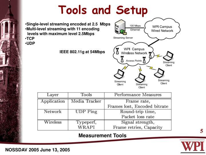 Tools and Setup