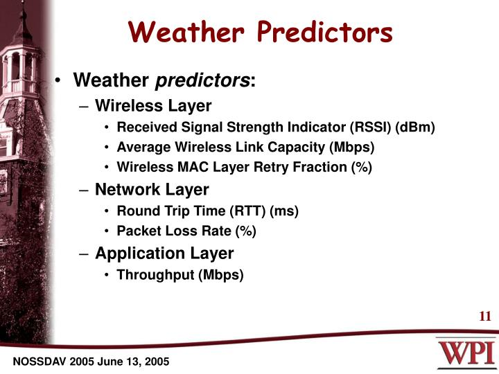 Weather Predictors