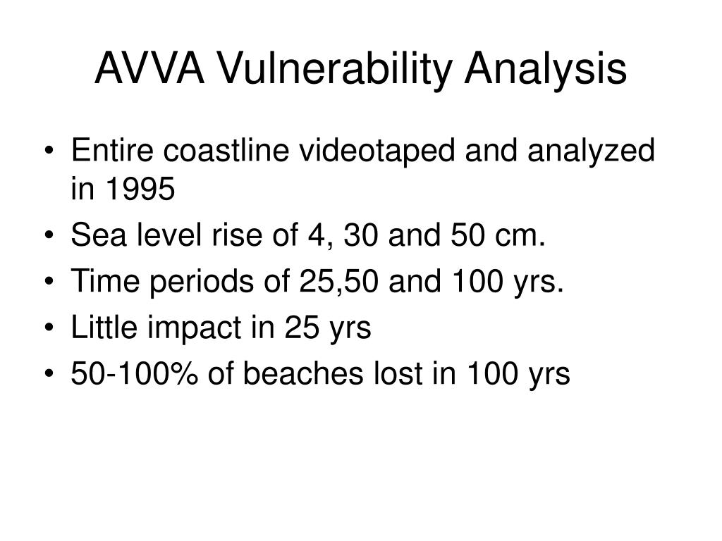AVVA Vulnerability Analysis