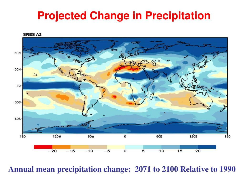 Projected Change in Precipitation