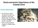 socio economic importance of the coastal zone17