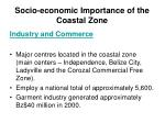 socio economic importance of the coastal zone24