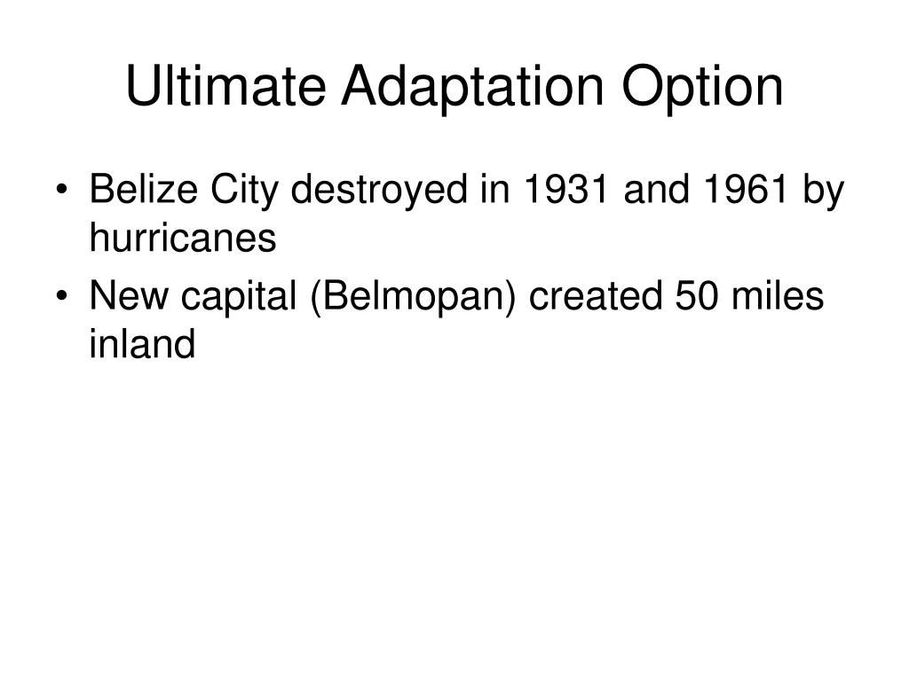 Ultimate Adaptation Option