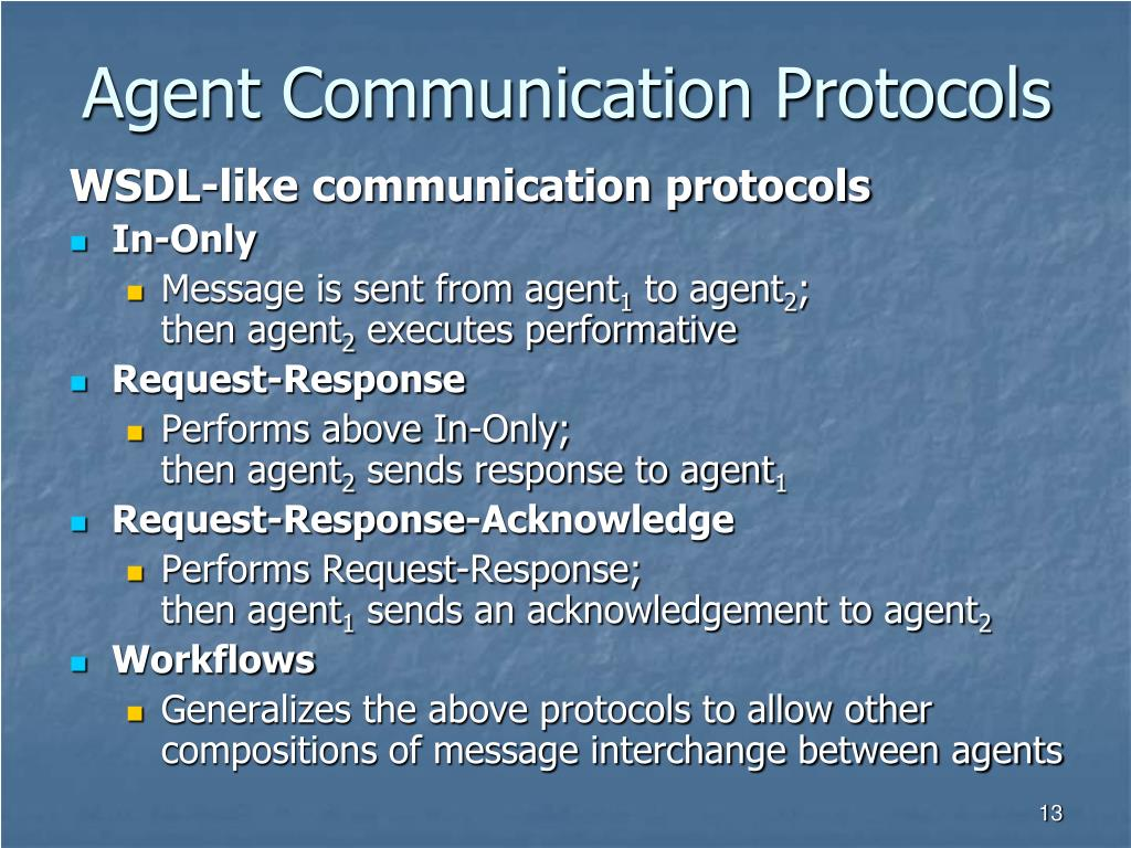 Agent Communication Protocols