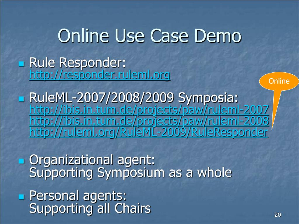 Online Use Case Demo