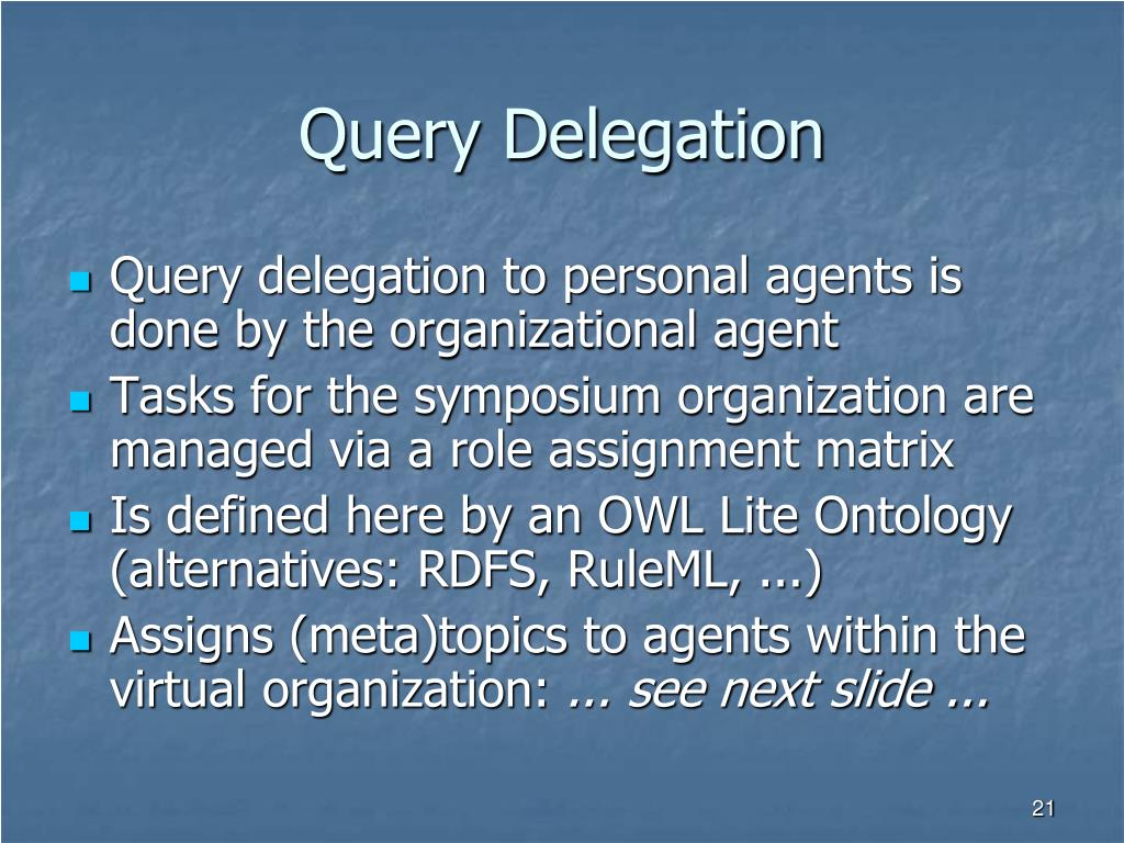 Query Delegation