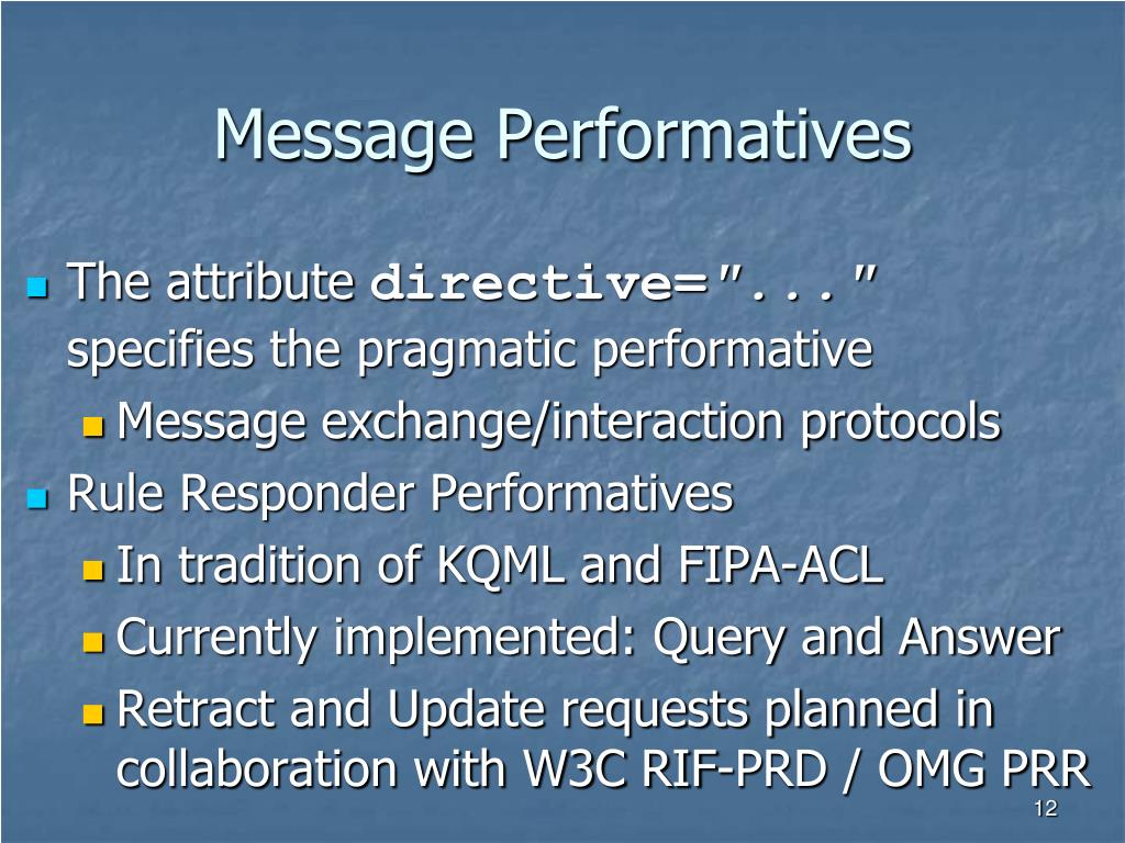 Message Performatives