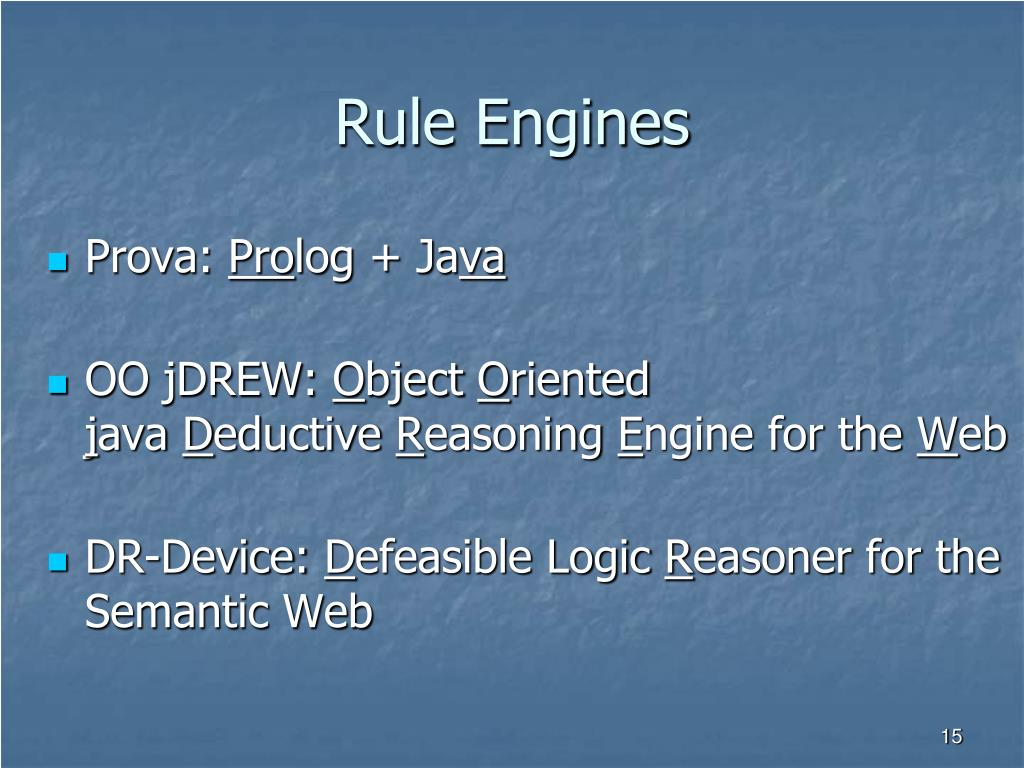 Rule Engines