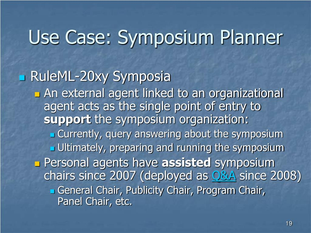 Use Case: Symposium Planner
