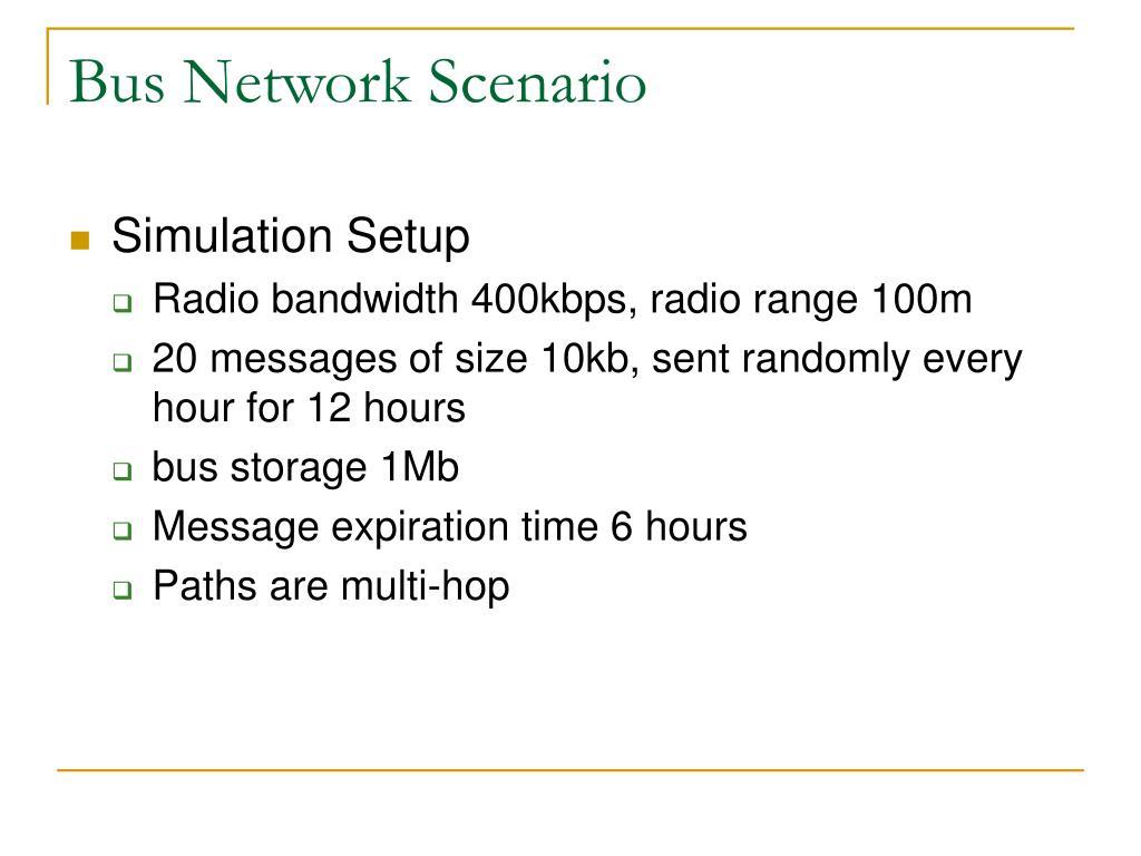 Bus Network Scenario