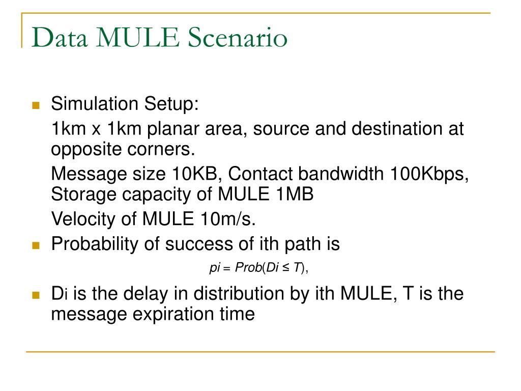Data MULE Scenario