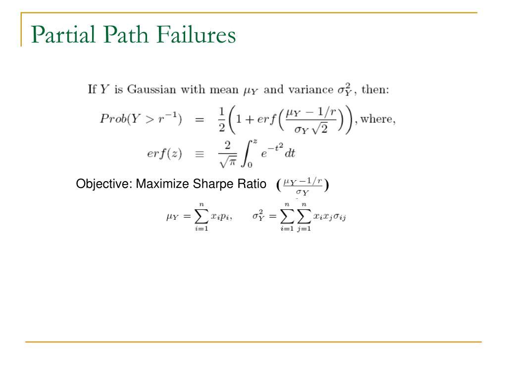 Partial Path Failures