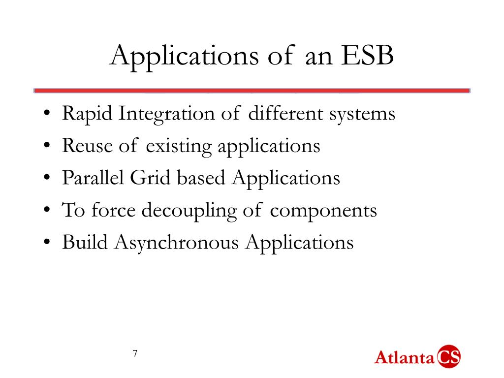 Applications of an ESB