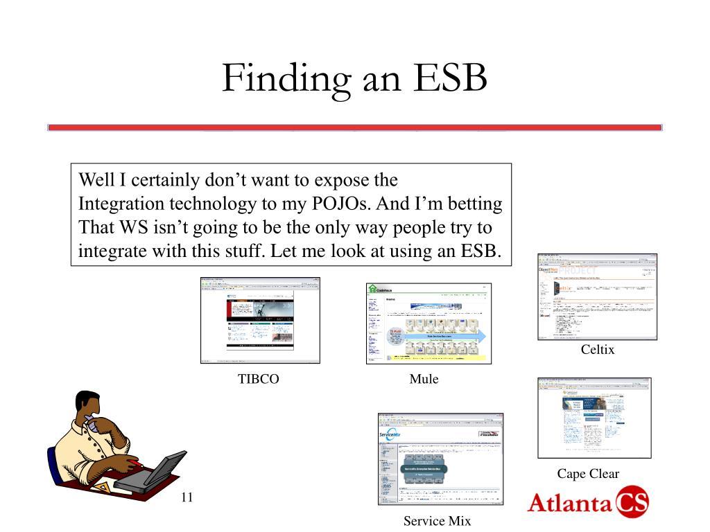 Finding an ESB
