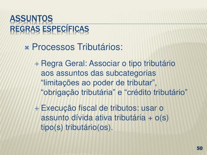 Processos Tributários: