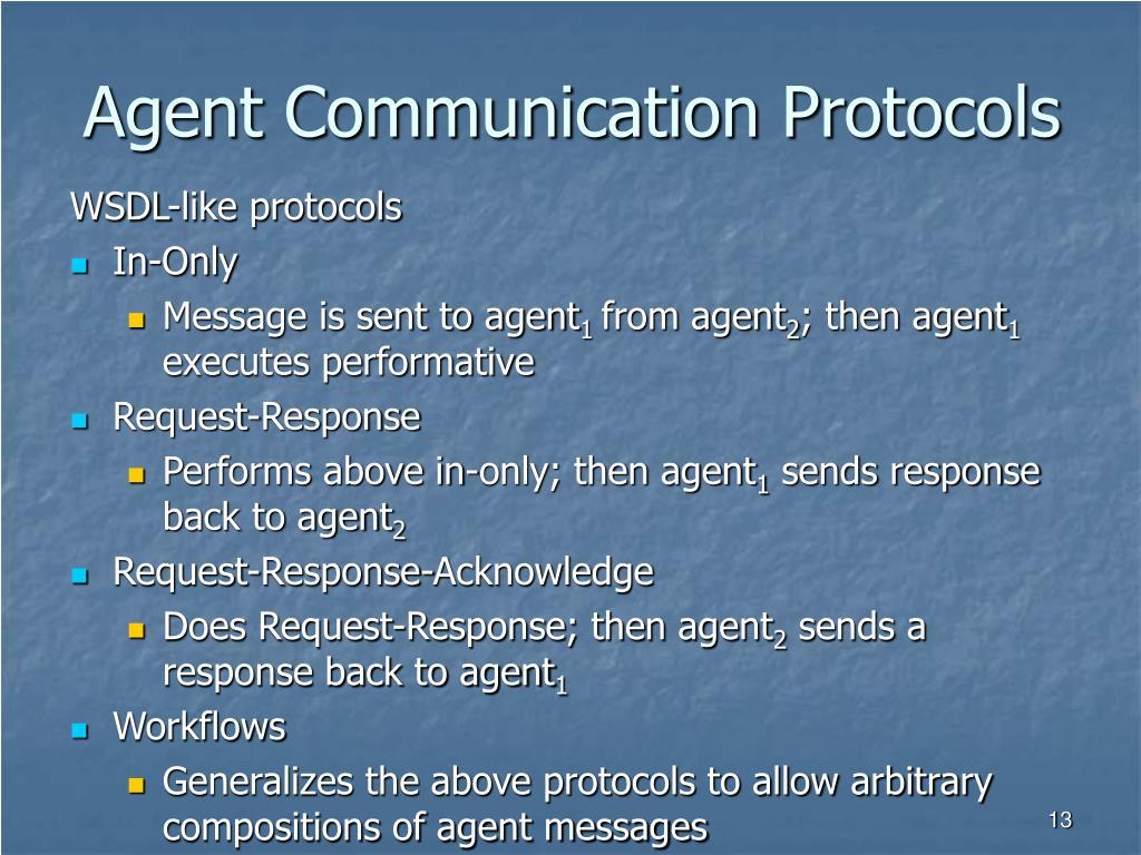 Agent Communication Protocols