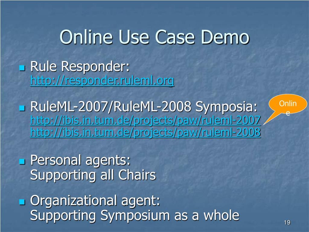 Online Use Case Demo