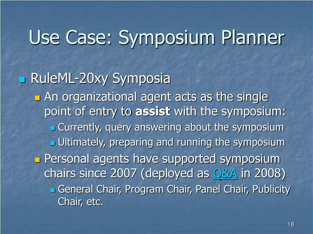 Use Case: Symposium Planner