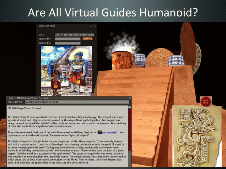Are All Virtual Guides Humanoid?