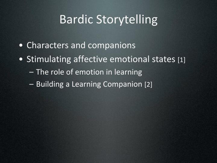Bardic Storytelling