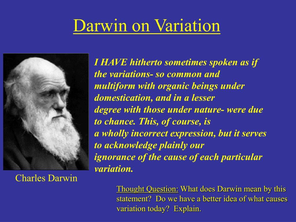 Darwin on Variation