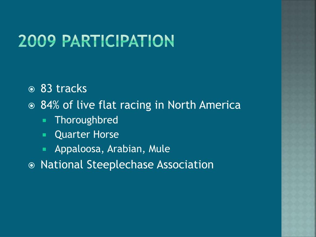 2009 Participation