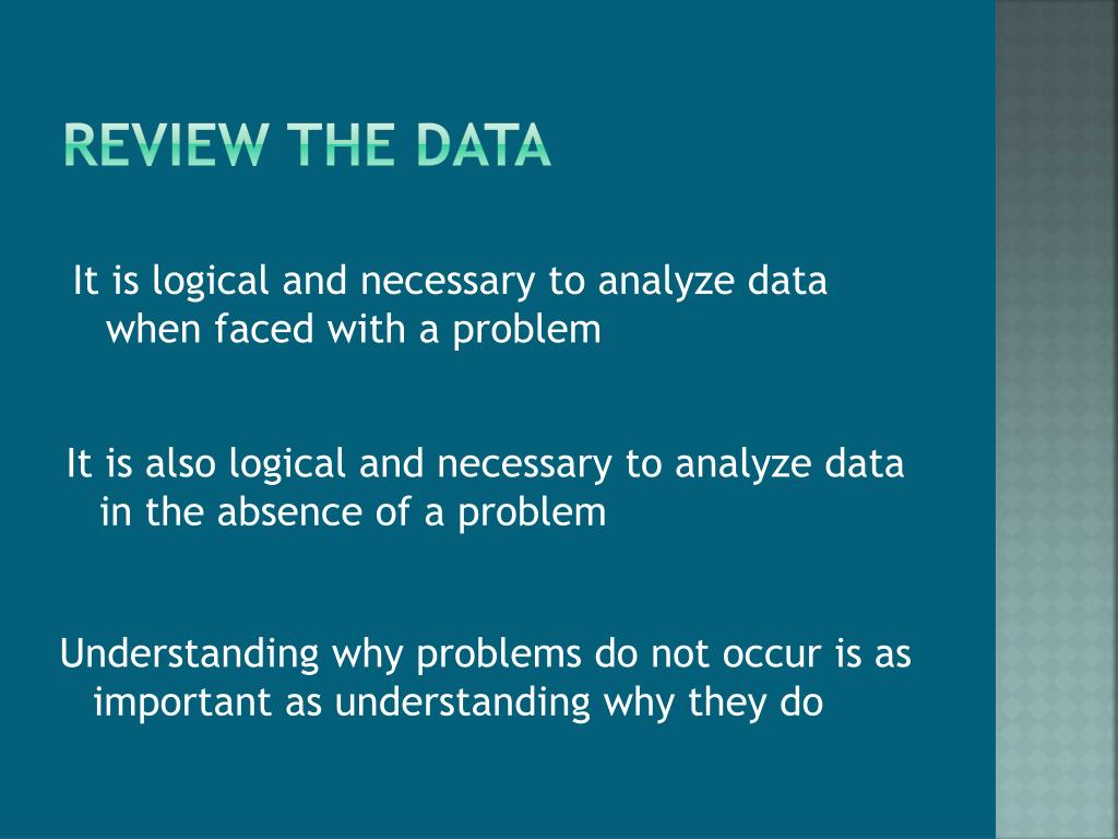 Review the data