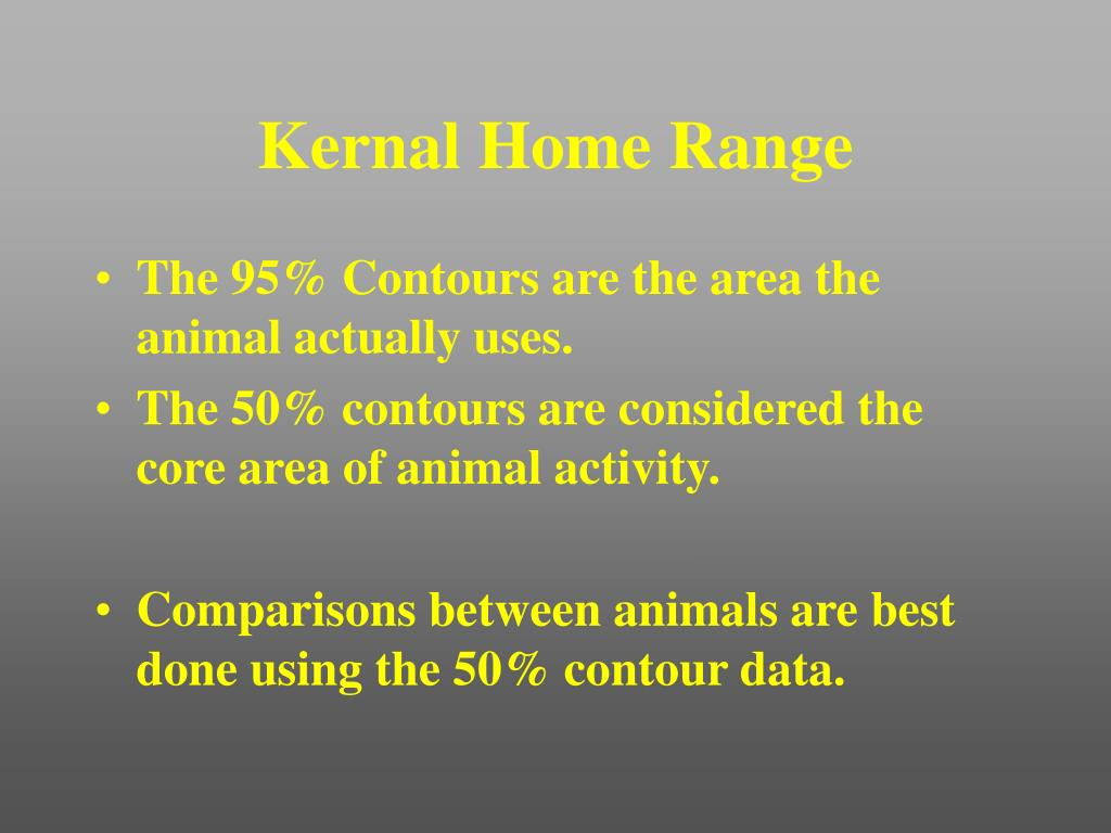 Kernal Home Range