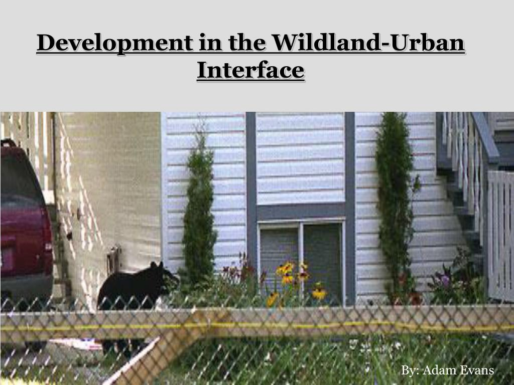 Development in the Wildland-Urban Interface