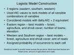 logistic model construction