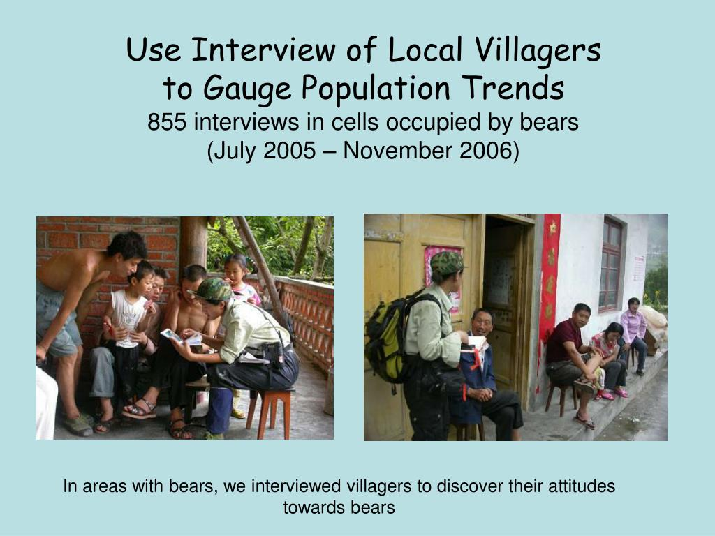 Use Interview of Local Villagers