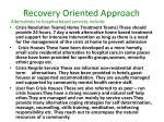 recovery oriented approach10