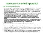 recovery oriented approach11