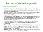 recovery oriented approach4