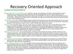 recovery oriented approach6