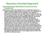recovery oriented approach9