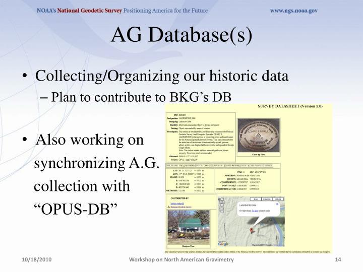 AG Database(s)