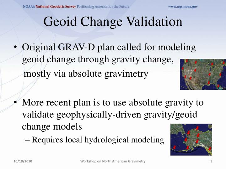 Geoid Change Validation