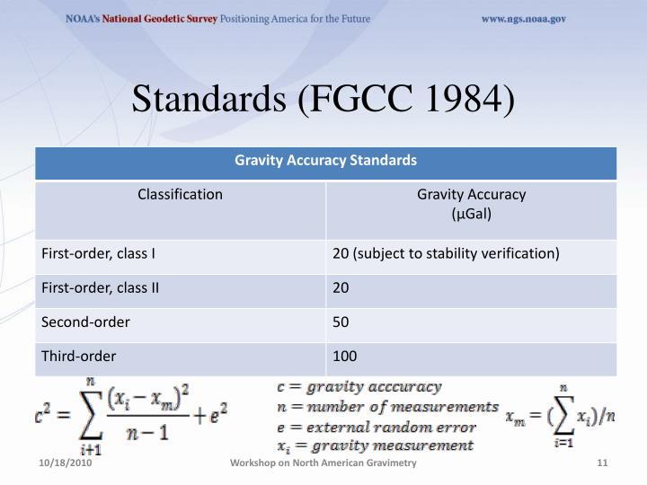 Standards (FGCC 1984)