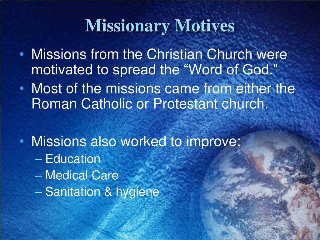 Missionary Motives