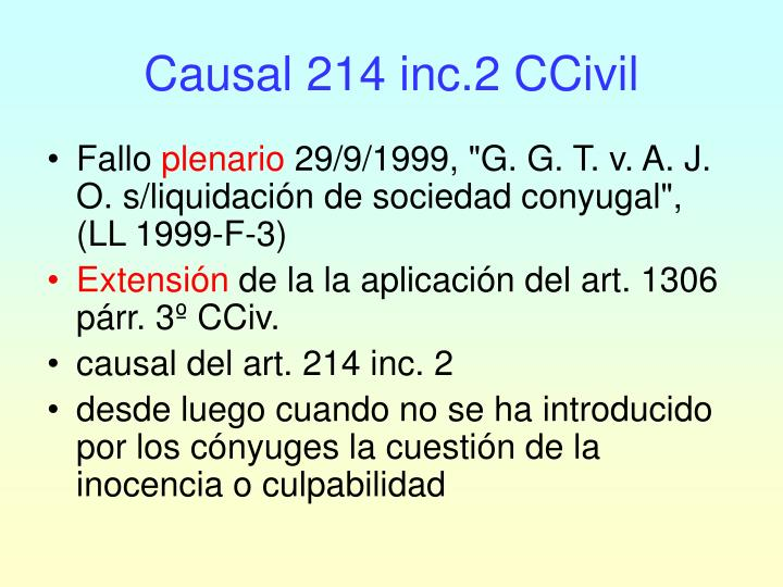 Causal 214 inc 2 ccivil