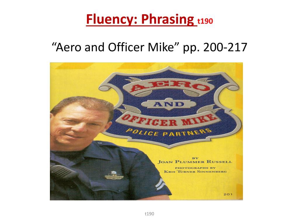 Fluency: Phrasing