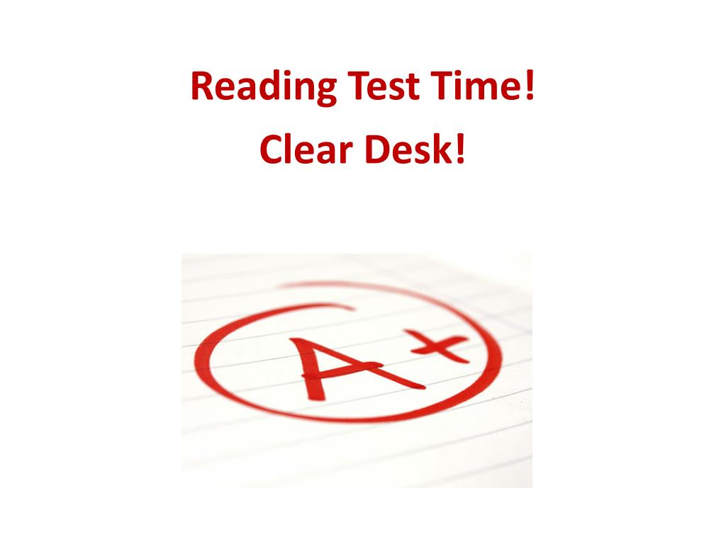 Reading Test Time!
