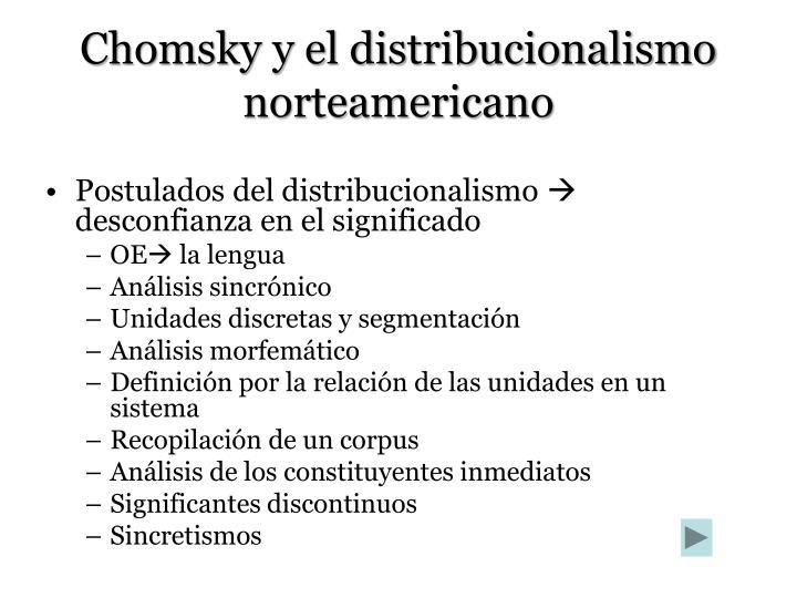 Chomsky y el distribucionalismo norteamericano