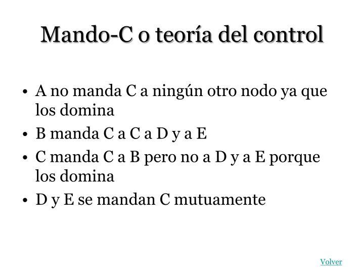 Mando-C o teoría del control