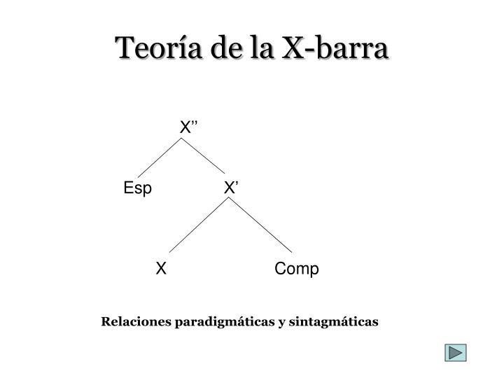 Teoría de la X-barra