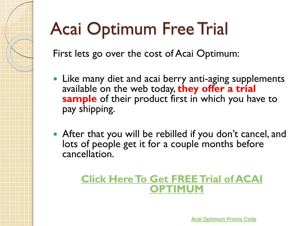 Acai Optimum Free Trial