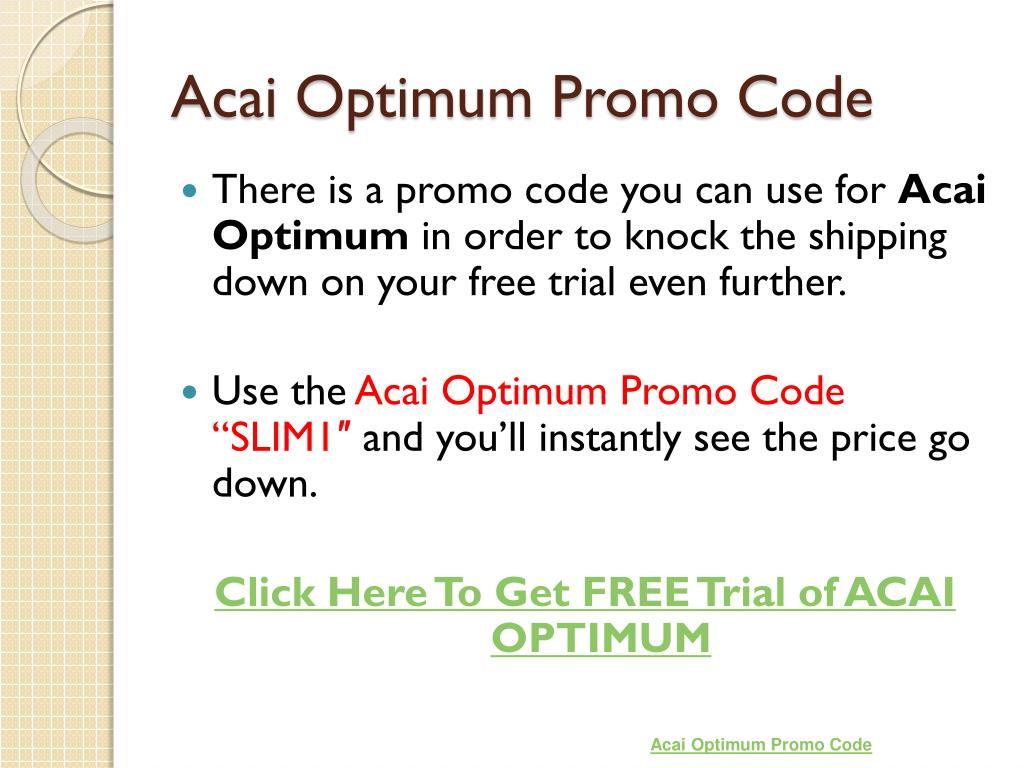 Acai Optimum Promo Code