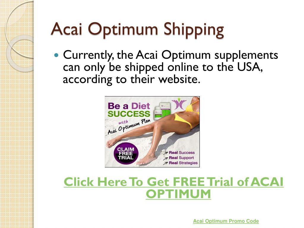 Acai Optimum Shipping