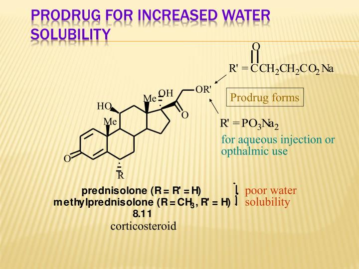 Prodrug for Increased Water Solubility